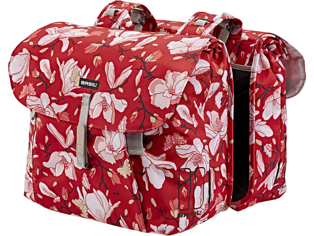 Basil Magnolia Sacoche vélo double 35l, poppy red
